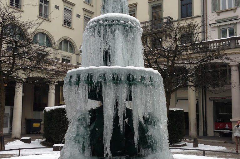 Una Zurigo… glaciale.